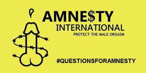 Amnesty schütze den männlichen Orgasmus, lautet ein Vorwurf auf Twitter.