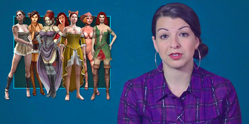 Anita Sarkeesian kritisiert die sexistische Darstellung von Frauen in Computerspielen.