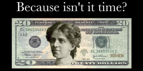 Entwurf einer 20-Dollar-Note mit der US-Frauenrechtsaktivistin Alice Paul.