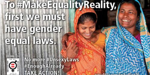 «Equality Now»: Voraussetzung für Gleichberechtigung sind gleiche Rechte.