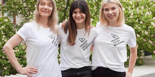 Initiantinnen des neuen Frauenvolksbegehrens (v.l.): Maria Stern, Schifteh Hashemi, Teresa Havlicek.