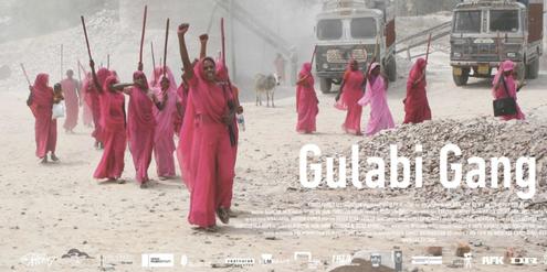 Plakat des Dokumentar-Films über die «Gulabi-Gang»
