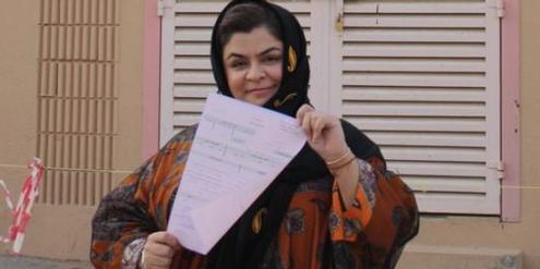 Haifa al-Hababi kandidiert bei den Kommunalwahlen in Saudiarabien.