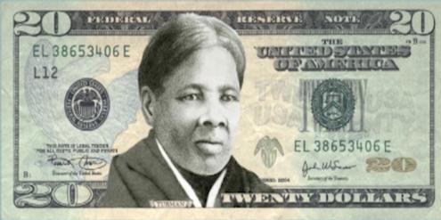 Entwurf einer 20-Dollar-Note mit der Bürgerrechtlerin Harriet Tubman.