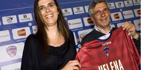 Helena Costa mit Claude Michy, Präsident von «Clermont Foot».