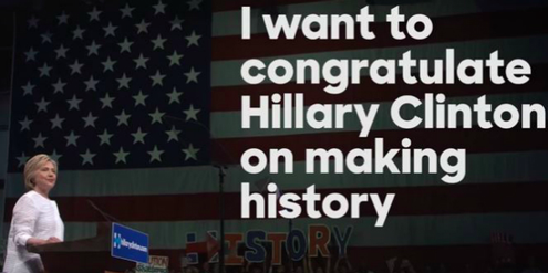 In einer Videobotschaft gratulierte Barack Obama Hillary Clinton zum Sieg bei den Vorwahlen.