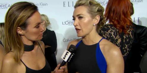 Kate Winslet (rechts) macht ihr Photoshop-Verbot in einem Promi-TV-Sender öffentlich.