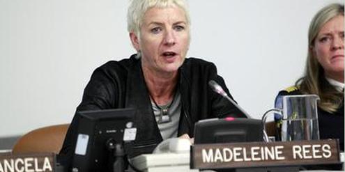 Madeleine Rees fordert einen Wiedergutsmachungs-Fonds für vergewaltigte Kriegsopfer.