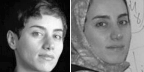Diese zwei Fotos von Maryam Mirzakhani twitterte Irans Präsident Hassan Rohani.