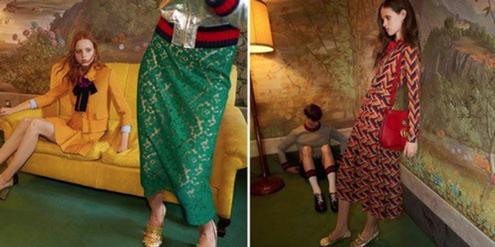 Die beanstandeten Gucci-Models: Nur das Model rechts hat die Werbeaufsicht als zu dünn befunden.