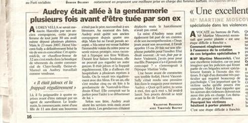 Artikel im «Le Parisien» vor dem Prozess gegen den Täter 2009.