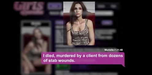 Der Freier erfährt: Murielle wurde von einem Kunden ermordet.