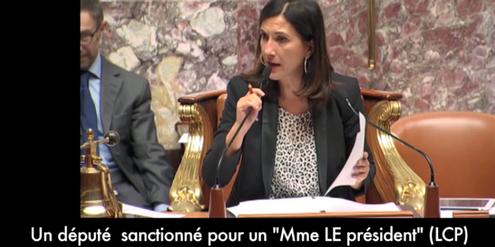 Vize-Parlamentspräsidentin Sandrine Mazetier während der Debatte über geschlechtergerechte Sprache.