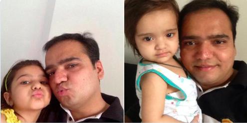 Selfie mit der Tochter: Auf Twitter setzen indische Väter ein Zeichen gegen Frauenhass.