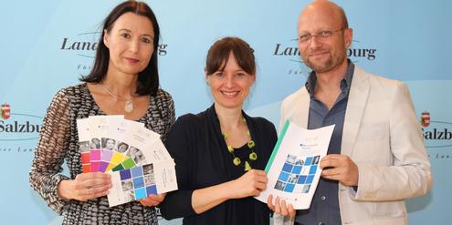 Petra Schweiger, Martina Berthold und Christian Fiala (v.l.) stellen die neue Studie vor.