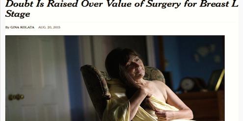 Ausschnitt «NYT»: Therese Taylor liess sich die Brust entfernen. Es war unnötig, sagt sie heute.