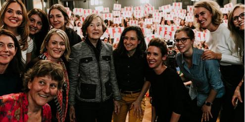 Vertreterinnen der überparteilichen Allianz «Helvetia ruft!», die erfolgreich Frauen unterstützte.