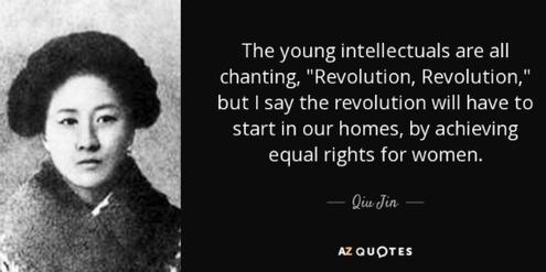 Qui Jin kämpfte im chinesischen Kaiserreich für Frauenrechte.