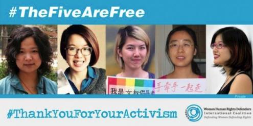 Die fünf jungen Chinesinnen sind zwar frei, aber nur unter Auflagen.