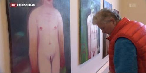 Seltenheit: Die Künstlerin Miriam Cahn im Kunstmuseum Bern 2019.