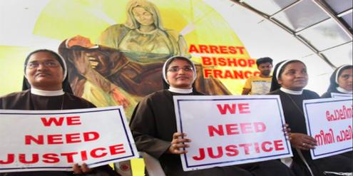 Nonnen in Indien werfen einem Bischof vor, eine Nonne mehrfach vergewaltigt zu haben.