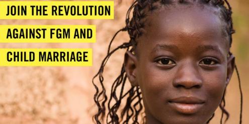Kampagne von Amnesty International gegen Kinderehen.