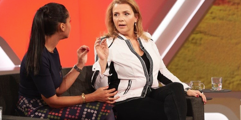 Birgit Kelle (rechts) poltert gegen Frauenrechte.