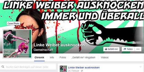 Frauenhass im Netz: Die Seite «Linke Weiber ausknocken» hat Facebook wochenlang geduldet.