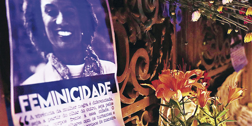 Das Kollektiv «Feminicidade» trauert um Marielle Franco.