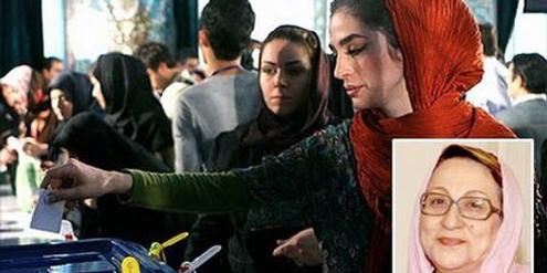 Frauenrechtsaktivistin Nahid Tavassoli (kleines Bild) will den Frauenanteil im Parlament erhöhen.