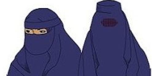 Das Verbot der Burka (rechts) im öffentlichen Raum ist umstritten.