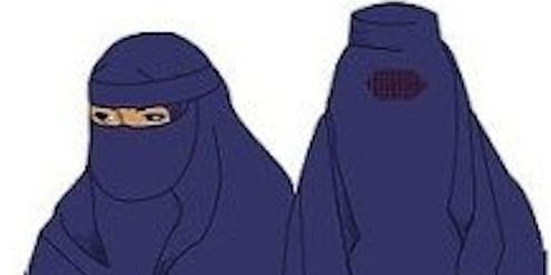 Österreich verbietet Nikab (links) und Burka (rechts) im öffentlichen Raum.