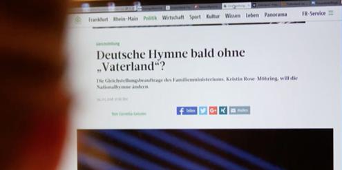 Deutsche Hymne: Der Vorschlag für geschlechtergerechte Sprache sorgte im Frühjahr für Aufregung.