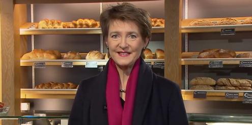 Neujahrsansprache von Simonetta Sommaruga: In der Bäckerei statt im Krankenhaus.
