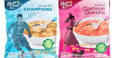 «Soup for Champions» für Jungen und «Soup for Glamour Queens» für Mädchen.