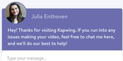 Das Chat-Fenster mit Bild und Namen von Julia Enthoven löste aggressive Reaktionen aus.