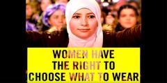 Die Menschenrechtsorganisation gibt sich im Video als Verteidigerin der Frauenrechte.