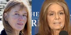 Florence Hervé (links) lehnt staatliche Auszeichnung ab. Gloria Steinem (rechts) hat sie akzeptiert.