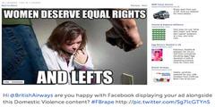 «Frauen verdienen gleiche Rechte - und Linke (Fäuste)». BritishAirways-Inserat rechts unten.