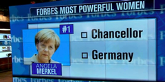 Angela Merkel führt die Rangliste der 100 mächtigsten Frauen an.