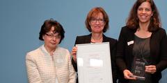 Siegerinnen aus Freiburg: Snezana Sever, Regina Gensler und Frauenbeauftragte Simone Thomas (v.l.).