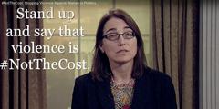 Kampagne #NotTheCost: Gewalt darf nicht der Preis für politisch engagierte Frauen sein.