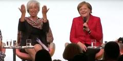 Christine Lagarde ermuntert Angela Merkel, sich als Feministin zu bekennen.
