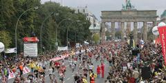 Marathon-Läuferinnen und -Läufer – hier in Berlin – laufen unterschiedlich.
