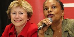 Maude Olivier (links) und Justizministerin Christiane Taubira wollen Freier kriminalisieren.