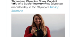 Auf Twitter korrigierte eine Userin die sexistische Schlagzeile der «Chicago Tribune».