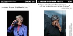 Zwei Porträts der Plakat-Kampagne «Einige Frauen gehorchen nicht».