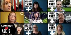 Frauen sprechen öffentlich über ihre Emotionen rund um ihren Entscheid für eine Abtreibung.