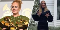 Adele vor und nach dem Gewichtsverlust.