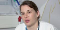 Pflegefachfrau Agnès Chapaly berichtet von langen Arbeitstagen im Spital Morges.